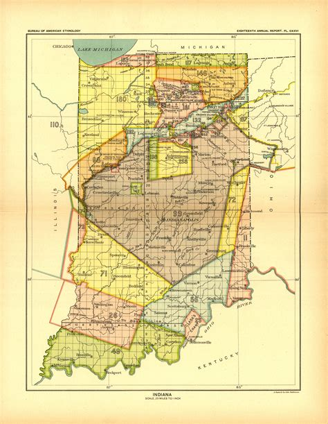 american lands cession map american land cessions in indiana access genealogy