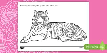 indian tiger coloring page diwali primary resources festival light hindu page 3