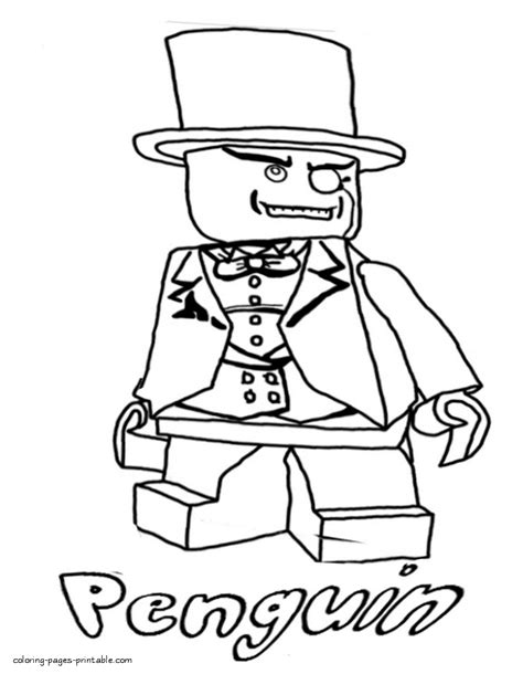 lego coloring pages to print batman batman lego printable coloring pages penguin