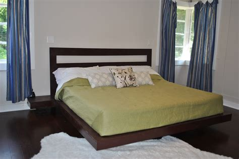 Floating Platform Bed 25 Simple Cut Out Headboard And 25 Floating Platform King Bed Repost White Woodworking