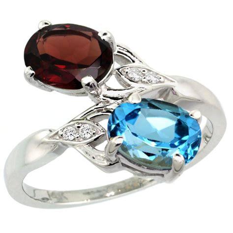 Blue Topaz Garnet garnet and blue topaz ring fashion