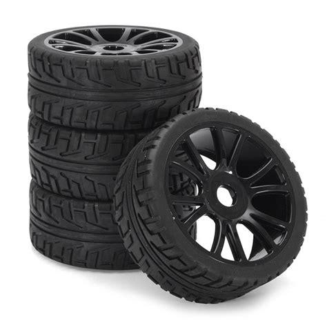 4pcs Black 1 9 Wheel Rims For Hsp Hpi Racing 1 10 Rc Model 4wd Car 60 4pcs 17mm hub wheel tires hsp 1 8 road rc car buggy tyre black price 15 99