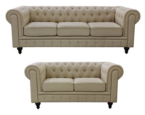 Chesterfield Sofa Set Product Reviews Buy Us Pride Furniture S5071 2pc Linen Fabric Chesterfield Sofa Set Beige