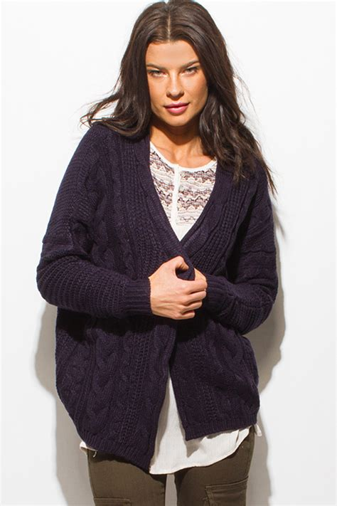 womens navy blue cable knit sweater shop wholesale womens navy blue cable knit