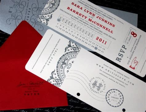 tear wedding invitations invite idea you can tear the rsvp card like a ticket stub invitation