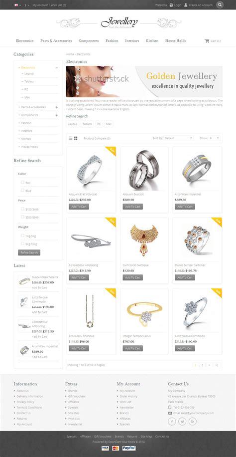 themeforest jewellery jewellery opencart responsive template by templatemela