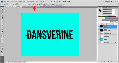 membuat variasi blogspot cara membuat glitch text effect dengan photoshop dansverine