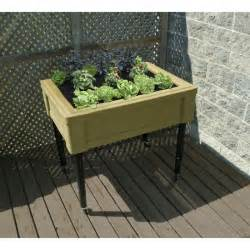 fixed leg raised garden table planter box by rts