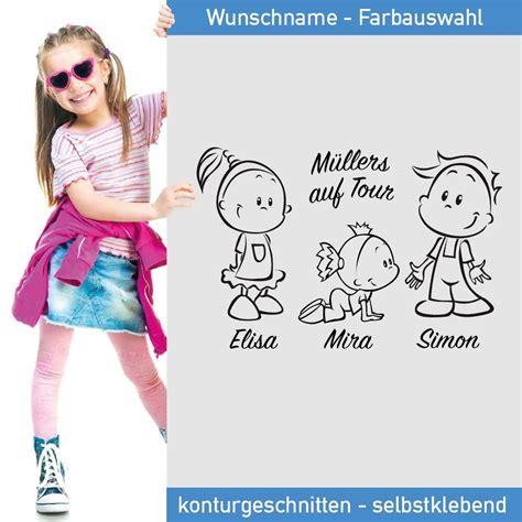 Autoaufkleber 3 Kinder by Auto Aufkleber Familie Mit Drei Wunschnamen In Tollen Farben