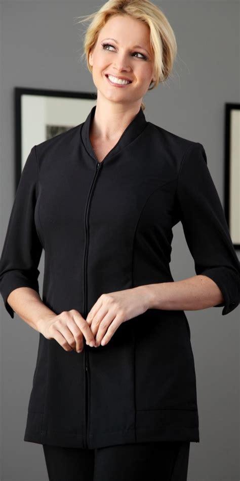 Jumbo Big Size Apt 9 Zipper Accent Blouse pravia 3 4 sleeve jackets tunics tops spa uniforms