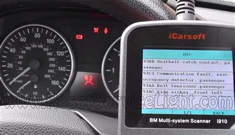 reset service light bmw reset airbag indicator bmw e93 cabrio reset service