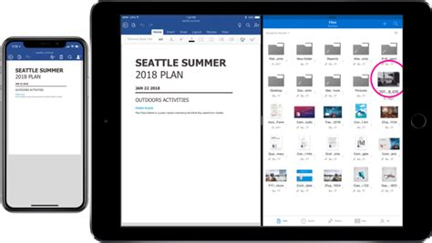 microsoft updates office onedrive ios apps with drag and