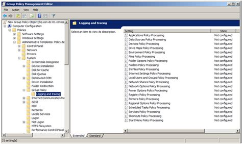 policy templates windows 7 enabling policy preferences debug logging using the