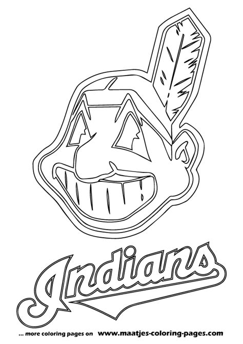 cleveland indians free coloring pages