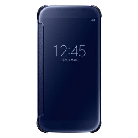 Terlaris Samsung Galaxy S6 Edge Clear View Cover Cover Silver Origi samsung clear view cover noir galaxy s6 edge etui