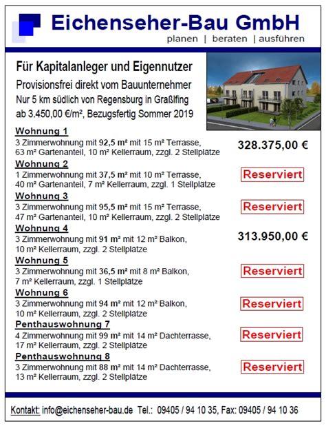 Anzeigen Immobilien by Immobilien Eichenseher Bau Bad Abbach
