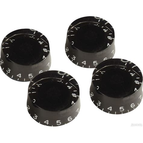 gibson speed knobs for electric guitar 4 pack black at