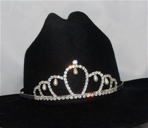 tiara boat hat quot jr princess of pearls quot rhinestone pearls cowboy hat