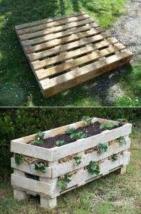 pallet into a vertical strawberry planter diy cozy home