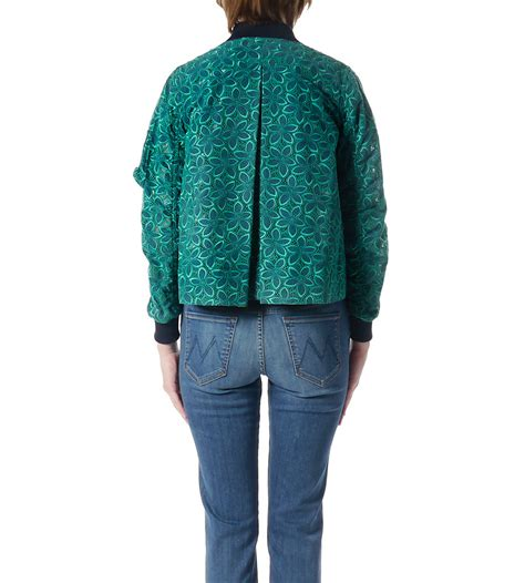 Lace Jacket Green sacai luck green and navy lace varsity jacket garmentory