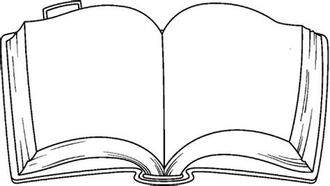 Open Book Coloring Page Clipart Best An Coloring Book