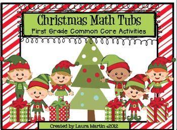 christmas math centers first grade math centers grade common activities common activities math tubs