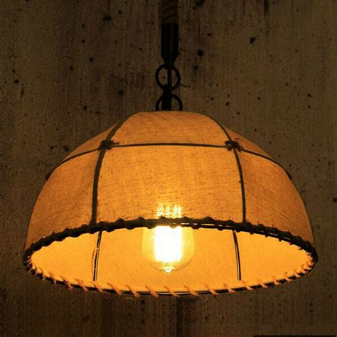 Decorative Pendant Light Fixtures Rustic Retro American Style Vintage Fabric Cloth Industrial Pendant Ls Home Decorative