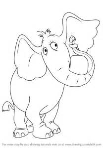 learn draw horton elephant horton hears horton hears step
