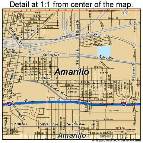 amarillo tx map of texas amarillo texas map 4803000