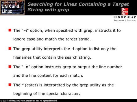 grep pattern line number intro unix linux 05