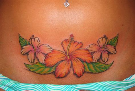 island flower tattoo designs flower tattoos for on stomach images