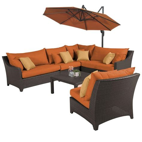 Rst Brands Deco 8 Patio Rst Brands Deco 6 All Weather Patio Sectional Set