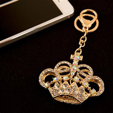 Royal Crown 3811 Swarovski Gold Original sparkly gold crown rhinestone charm pedant purse key chain gift golden ebay