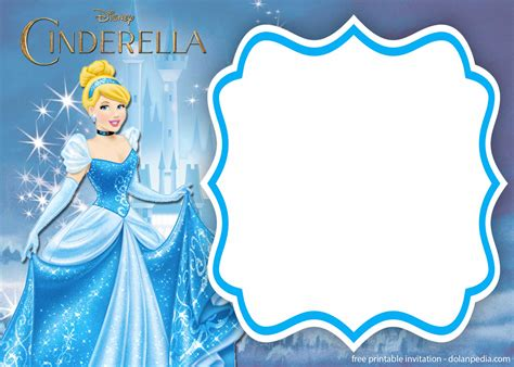 cinderella invitation to the template free printable cinderella royal invitation templates