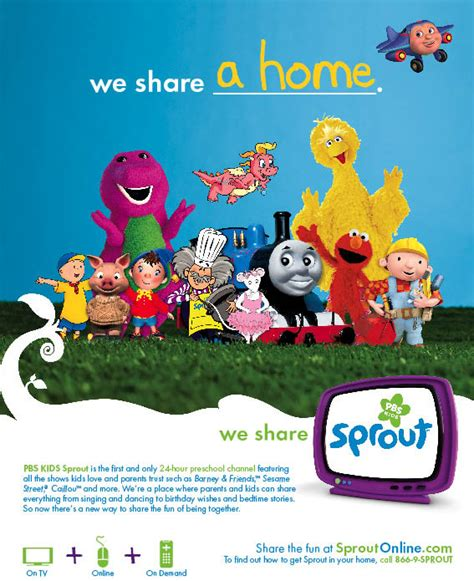 pbs kids sprout on behance