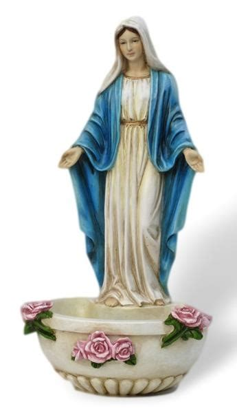 madonna  lady  grace holy water font  roses