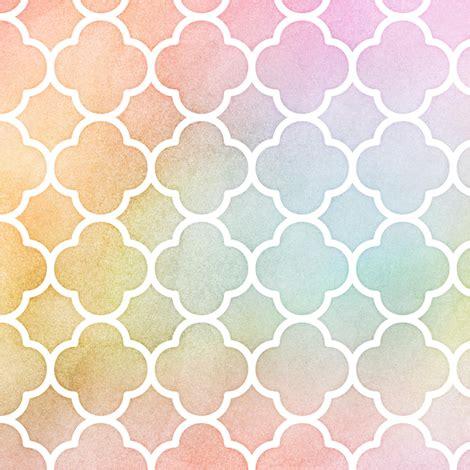 pastel pattern material pastel rainbow watercolor quatrefoil pattern fabric