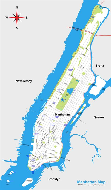 manhattan city map map of manhattan new york city map city sightseeing tours