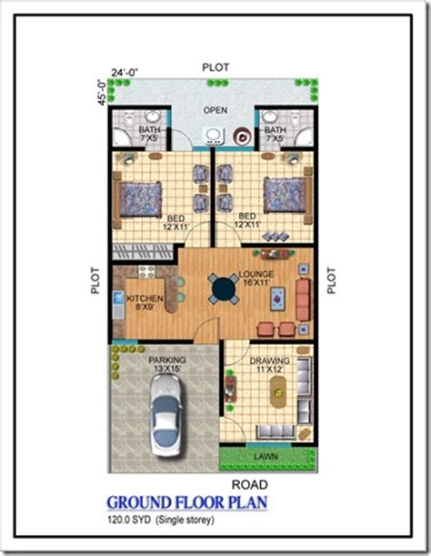 120 yard home design floor plans noman lake villas karachi property blog