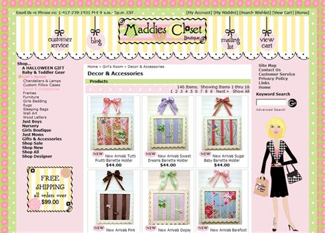 maddies closet boutique web design colorful hip