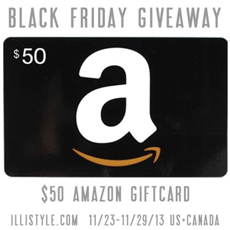 Amazon Gift Card Black Friday - black friday 50 amazon com gift card giveaway
