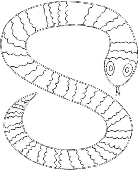 S Snake Coloring Page by Sea Snake Coloring Pages Sea Snake Coloring Pages