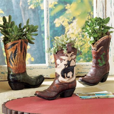 cowboy decor cowboy boot vases set of 3 fun things