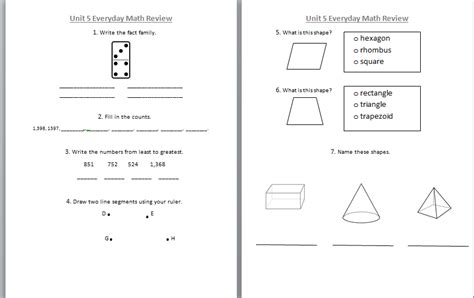everyday math grade 4 unit 5 study links everyday math