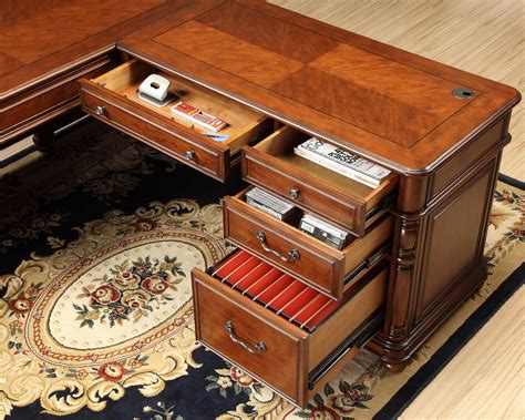 bristol court l desk riverside furniture bristol court large cherry l desk and