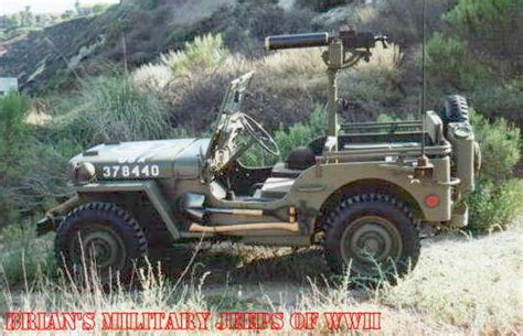 ww2 jeep side view web site table of contents page brian s jeeps