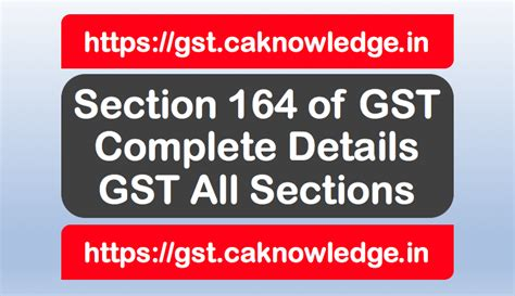 section 164 income tax act section 164 of gst power of government to make rules