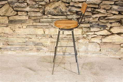 Reclaimed Wood Swivel Bar Stools by The Sully Reclaimed Wood And Industrial Rebar Swivel Bar