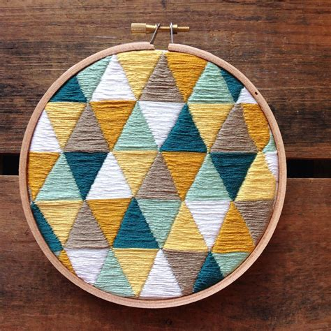 embroidery geometric pin by payne on things to make and do embroidery