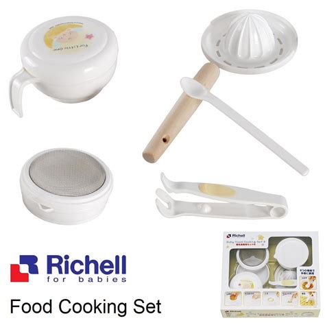 Richell Tempat Makan Bayi Animal Baby Food Container 100ml Isi 8pcs richell baby food cooking set maker peralatan makanan bayi